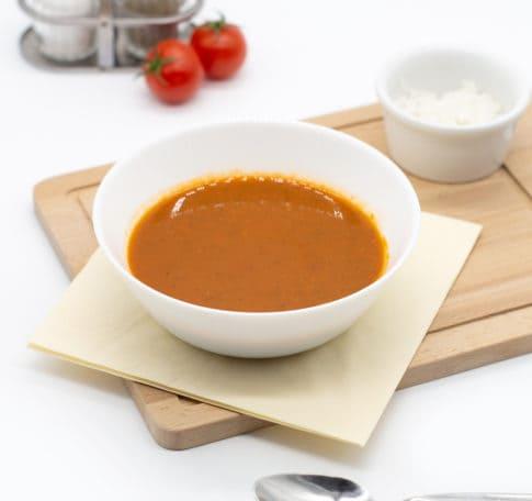 Томатный суп с базиликом и басмати